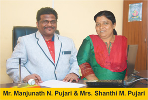 Mr. Manjunath Pujari (Chairman) & Mrs. Shanti Pujari (Director)
